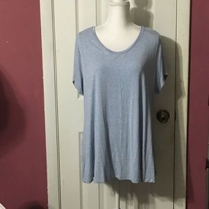 H by Halston soft modal heathered blue t shirt